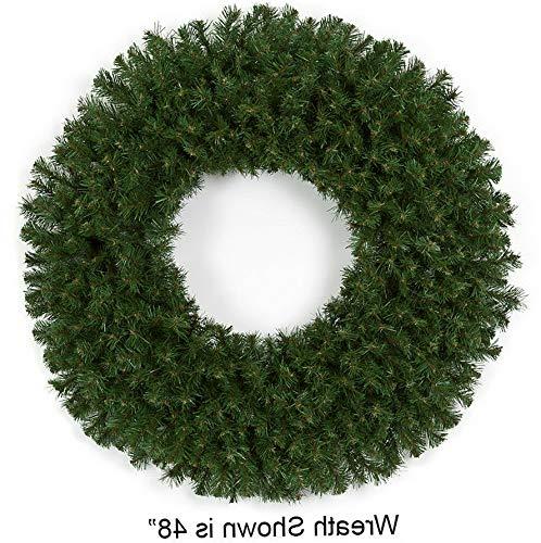 Crystal Pine Wreath - Mikash 60 Artificial Virginia Pine Hanging Wreath -Green | Model WRTH - 365