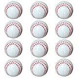 Small Sports Ball for Kids Party Favor 12 Pack Foam Stress Balls 2.5 INCH Baseball Squeeze Toy Ball (Baseball)