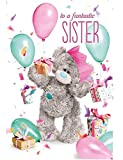 Me To You Tatty Teddy 3D Holographic Card Fantastic Sister Birthday Card