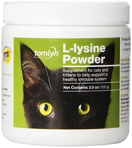 51eBnMsnHFL - Immune Support L-Lysine Supplement Powder for Cats, 100gHigh levels of L-Lysine Hydrochloride - By TomlynTom Lyn