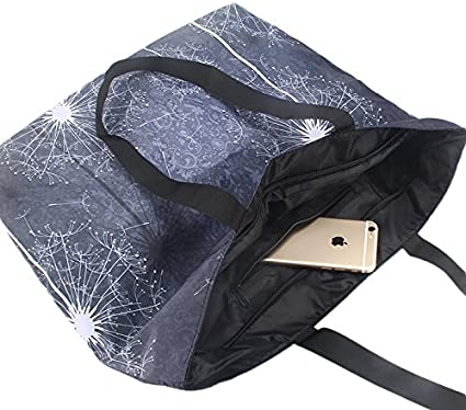 Beach Tote Bags Travel Totes Bag Shopping Zippered Tote for Women Foldable Waterproof Overnight Handbag