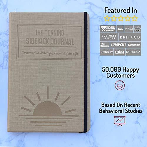 Bundle - Two Beige Morning Sidekick Journals  Morning Habit