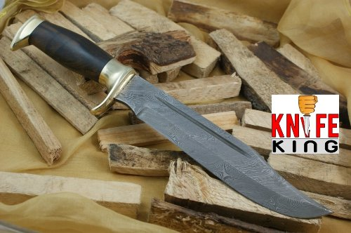 Knife King Big Bro Damascus Bowie Knife. Comes with a Sheath.
