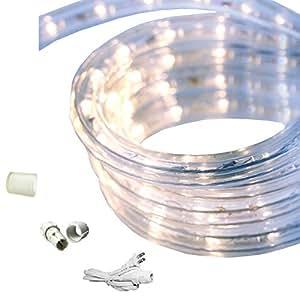 dimmable cool white led rope light kit 120v 18ft home improvement. Black Bedroom Furniture Sets. Home Design Ideas