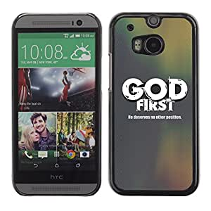 Paccase / Dura PC Caso Funda Carcasa de Protección para - BIBLE God First - He Deservers No Other Position - HTC One M8