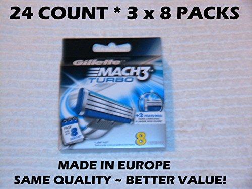 Gillette Mach 3 Turbo 24 Count
