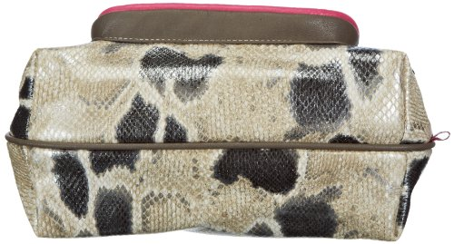 Poodlebags Funkyline - Exotic Remix - French Peanut - pink snake - Bolso de hombro de material sintético mujer multicolor - Mehrfarbig (pink snake)