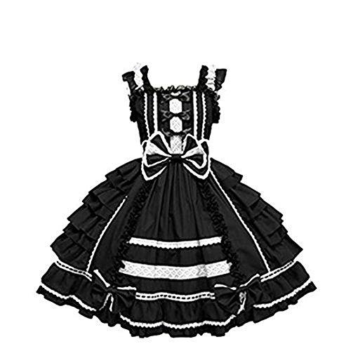 Nuoqi Girls Sweet Lolita Dress Princess Lace Court Skirts Cosplay Costumes -