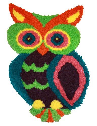 MCG Textiles 37723 Owl Shaped Latch Hook Rug Kit, 18.5 by 27-Inch