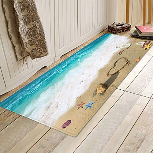Jeeke Area Rug Non Skid Small Accent Throw Rugs Rectangle Soft Door Carpet Bath Rug Mat for Entryway Bedroom Kitchen, 16''X 47''
