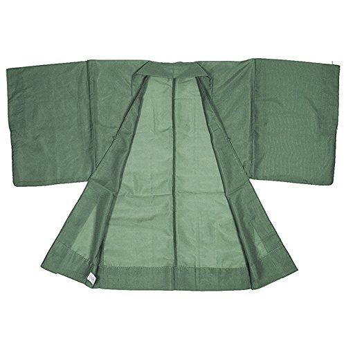 KYOETSU Men's Japanese Haori Jacket Komaro Kimono Summer Washable (XX-Large, Olive) by KYOETSU