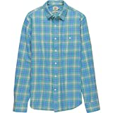 Faherty Seaview Shirt - Men's Green Blue Plaid, XL