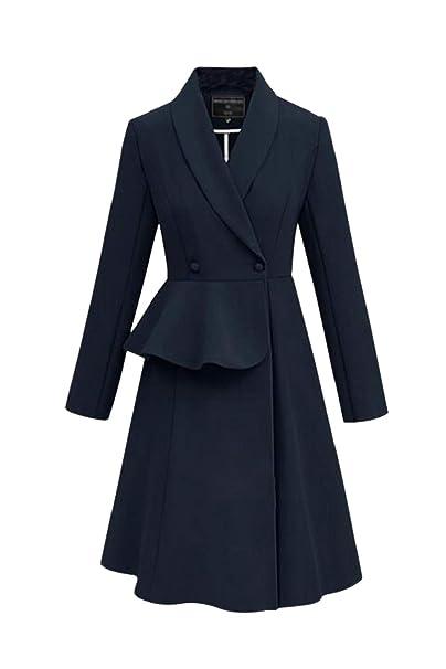 Durante Mucho Tiempo, Las Mujeres Gabardinas Abrigo Vestido De Slim Fit Outwear: Amazon.es: Ropa y accesorios