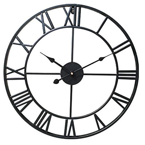 Xyanzi Vintage Wall Clock Simple Living Room Wall Clock Creative Wrought Iron Home Clock