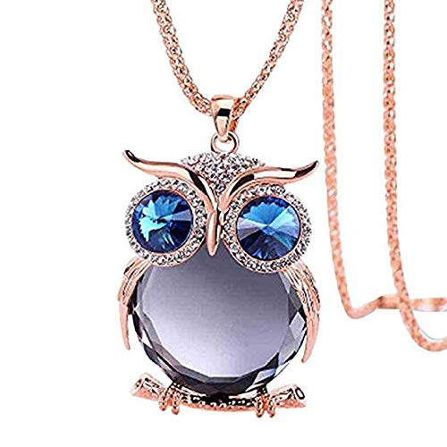 Windoson Womens Pendant Jewelry Offer owl Pendant Necklace Ladies Glass cabochon Necklace Jewelry Gift Offer Necklace (Purple)