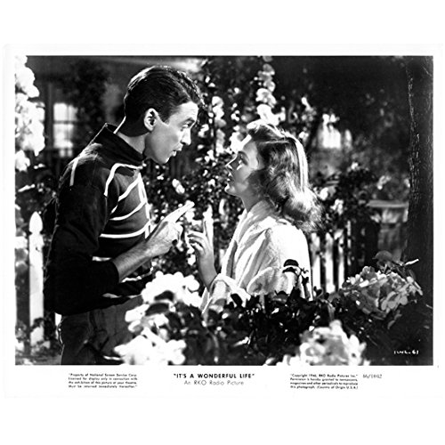 Jimmy Stewart with Donna Reed in It's a Wonderful Life 8 x 10 Inch Photo