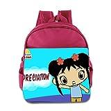 Kids Ni Hao,Kai-lan School Backpack Cartoon Baby Boys Girls School Bag Pink