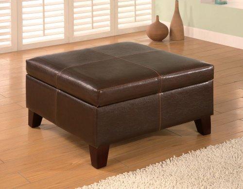 Coaster 501042 Leather Storage Ottoman