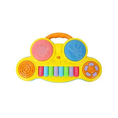 LIUFS-El teclado Jugador de teclado Tambor Principiante Pequeño Piano Niña Educación temprana Rompecabezas Juguetes