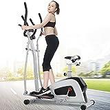 AinfoxFitness Equipment Elliptical Bike with Seat Exercise Bike Body Rider for Home Office (skiver) (sliver) For Sale