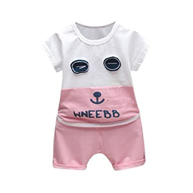 3f15e8c24ce4 Amazon.com: Leegor Clothes Sets, Sale Clearance!Infant Children Baby Boys  Cartoon Eyes Tops and Shorts Pants Outfits: Clothing