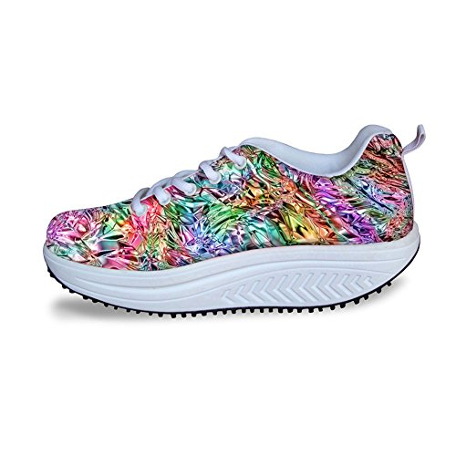 HUGS IDEA Colorful Fashon Womens Walking Platform Sneakers Colorful 7 mIOm5vO