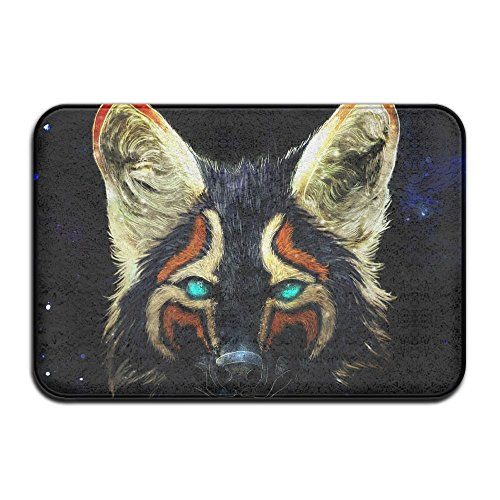 Wyuhmat1 Non-Slip Mat 40x60cm Doormat Colorful Fox Non-Slip Rug - Collection Kitchen Dining Living Hallway Bathroom Pet Entry Rugs for $<!--$4.88-->