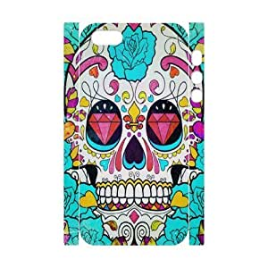 3D Bumper Plastic Customized Case Of Artsy Skull for iPhone 5,5S