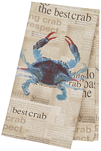 Paperproducts Design Kitchen Towel Featuring Best Crab Design, Blue by Paperproducts Design
