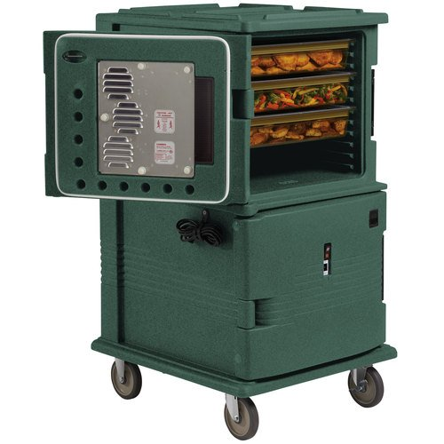 Cambro UPCHT16002192 Ultra Camcart with 220V Top Heated Compartment, Granite Green (UPCHT16002192) Category: Food Transport