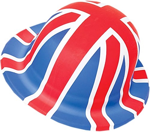 Adult Fancy Dress Party Accessory St. George's Day Union Jack Plastic Bowler Hat -