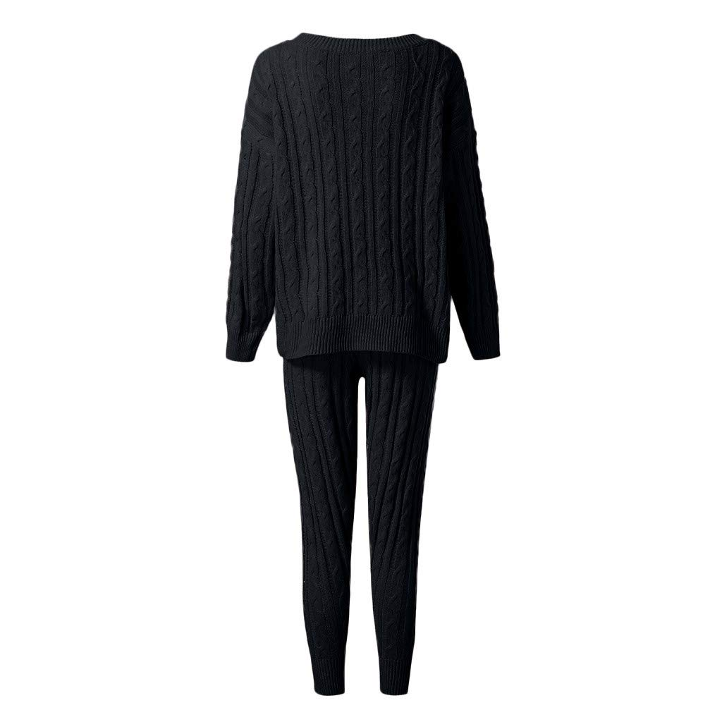 Women Suits Tracksuits,Solid Off Shoulder Knitted Tops and Pants Tracksuit Sets Sweatsuits 2PC Cuasual Sport Suit Jinjiums
