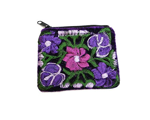 titch Soft Velvet Zipper Coin Purse Change Pouch (Purple) ()