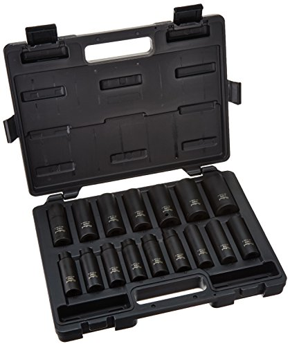 Blackhawk By Proto UW-516MDS Drive Metric Deep Impact Socket Set, 1/2-Inch, 16-Piece