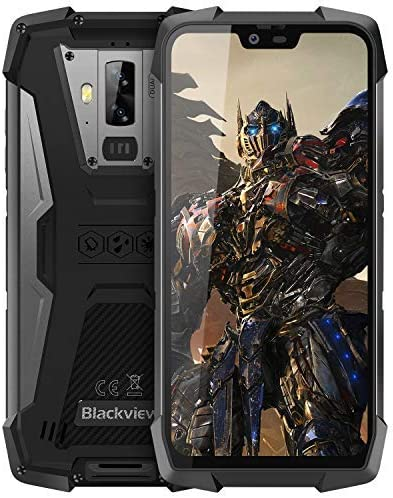 Rugged Cell Phones Unlocked, Blackview BV9700 Pro 4G IP68 Waterproof Drop Proof Gaming Smartphones, Octa Core 6GB+128GB 5.8 inches FHD Screen Android 9.0 4380mAh Battery Dual Sim Mobile Phone, Black