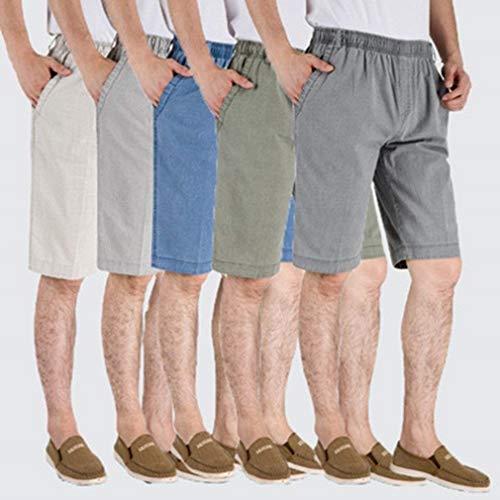 Esterno 3 Alta Casual Con Sportivi Uomo Pantaloni A 4 Hellgrau Da Haidean Vecchia Vita E Lavoro Moderna Media Di Larghi ftqUT