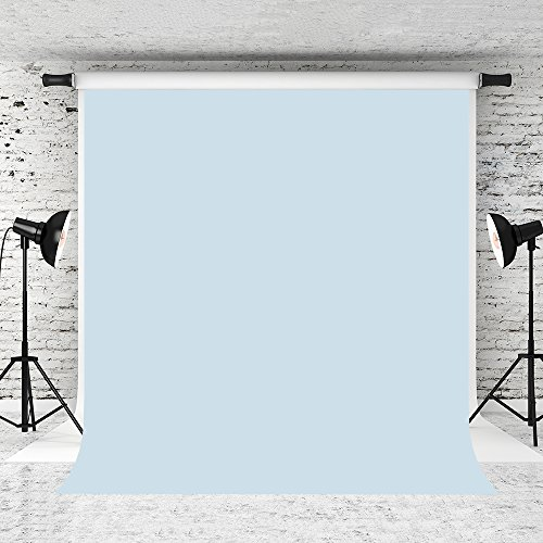 Kate 5x7ft Light Blue Photo Backdrop Pure Solid Color Background Cotton Collapsible Backdrops for Photographer Photo Studio Prop