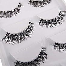 5 Pairs Soft Long Black Cross False Eyelashes Makeup Eye Lash Extension