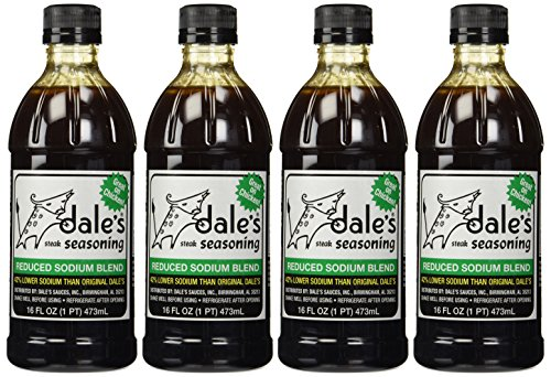 Dale's Steak Seasoning Reduced Sodium Blend, 16 oz, (Pack of 4)