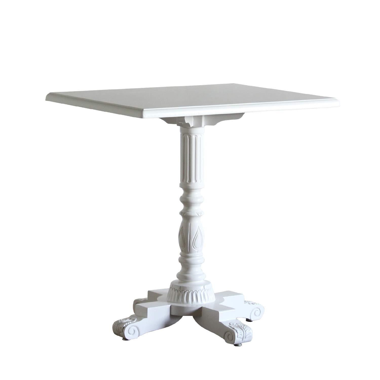 カフェテーブル 角型 ホワイト 4227-F-18 B07MZRXD39 ホワイト 4227-fn-18