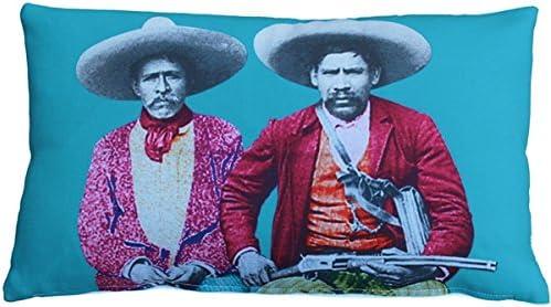 PILLOW D COR Dos Banditos Throw Pillow 12×19