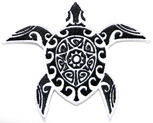 Sea Turtle Patch Sew Iron on Embroidered Applique Carft Handmade DIY Costume Cloth (4.5