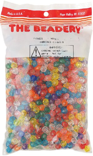 - The Beadery 8mm Faceted Bead, 900-Piece, Multi