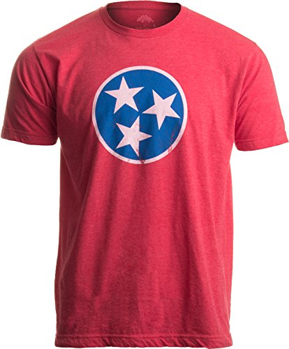 Ann Arbor T-shirt Co. Tennessee Flag | Vintage Distressed Effect Tennesseean Volunteer State T-shirt-(Adult,XL)