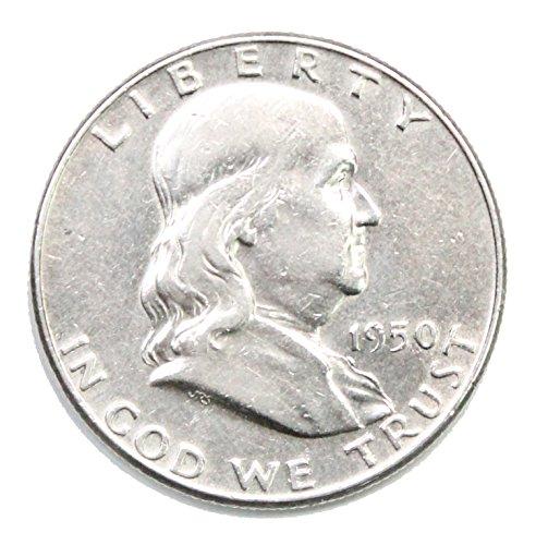 1950 P Silver Franklin Half Dollar Half Dollar AU