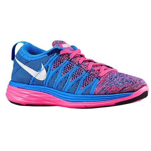 Nike Womens Flyknit Lunar 2 - Pink Flash/White/Photo Blue...