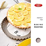 Bakerdream Round Non-stick Tart Pan Quiche Pan with Removable Bottom Mini Tart Pan Pie Pan with Loose Bottom, 3.5 Inch