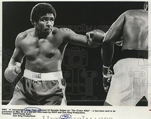 (Historic Images 1983 Press Photo World Boxing Council #1 Heavyweight champion Greg Page - 7.75 x 9.75 in)