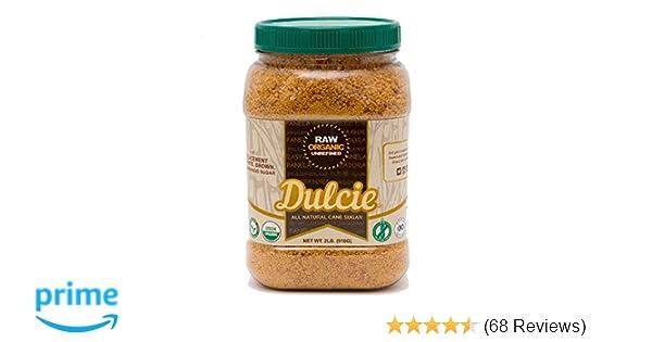 Dulcie Organic Unrefined Natural Cane Sugar (2 LB Jar)