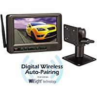 VOYAGER WVOM713AP 7 Digital Wireless Auto-Pairing Tractor Trailer Back-Up Monitor/Receiver for Digital Wireless Cameras with WiSight Technology, Supports up to 3 Cameras (Not Included)